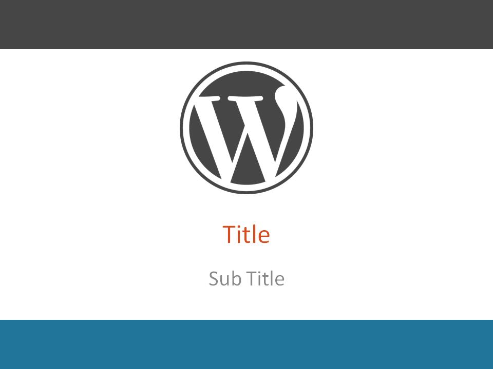 WordPress PowerPoint Template